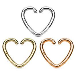 Oorpiercing van 14 karaats goud gevormd als een hartje
